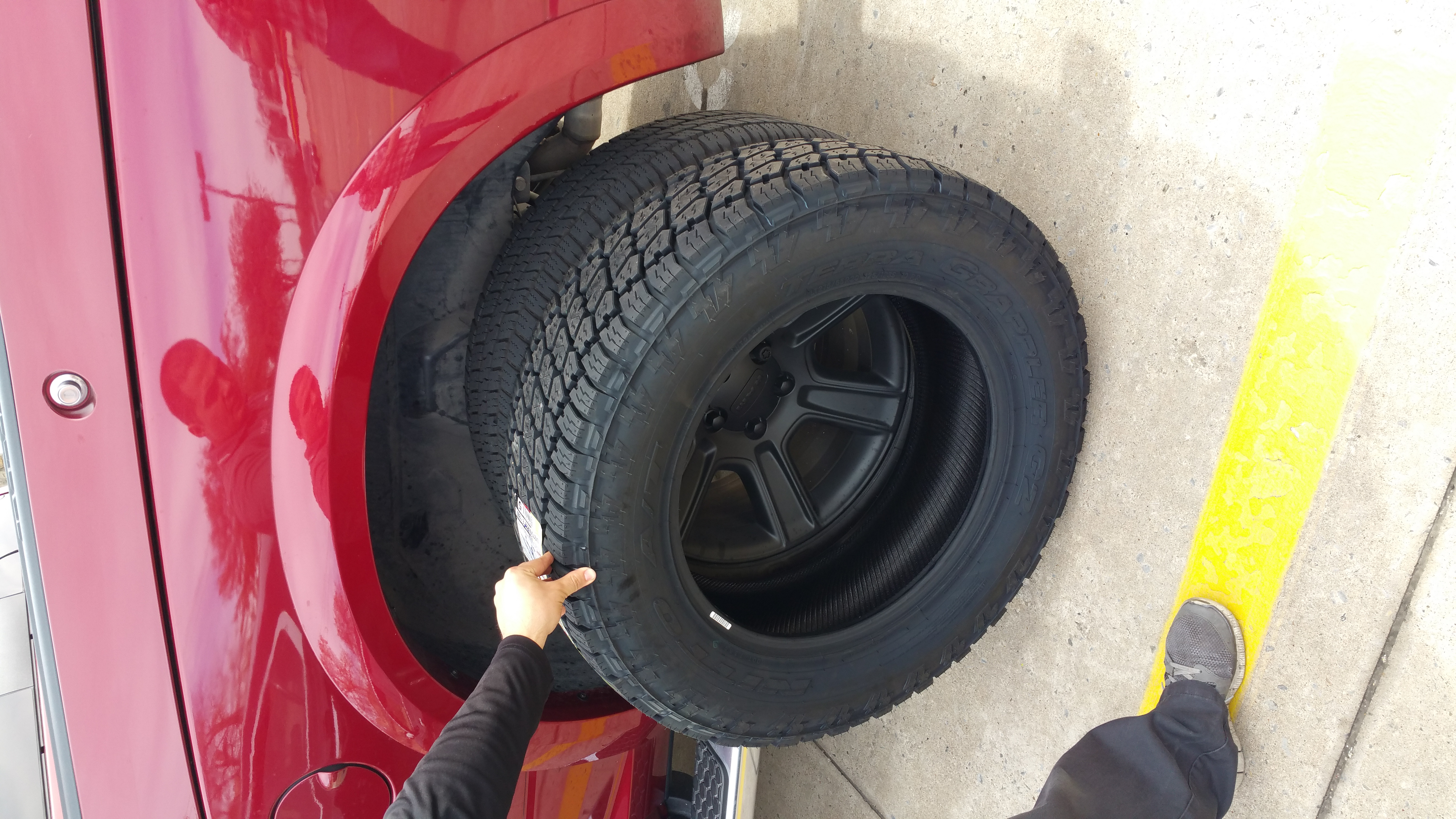34 Inch Tires On Stock Truck With Air Suspension