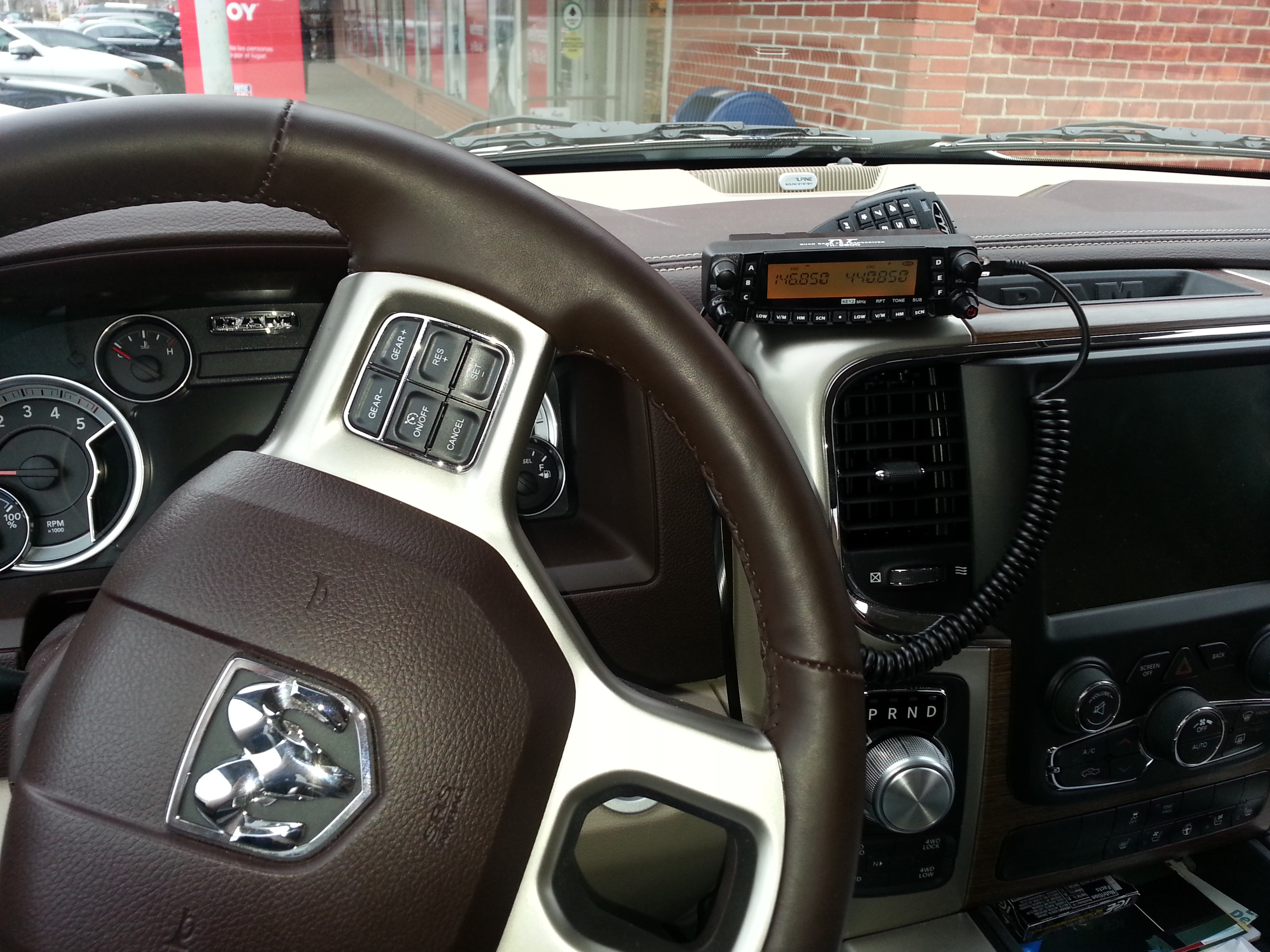 Ram 1500 Accessories >> Where to mount a Ham Radio