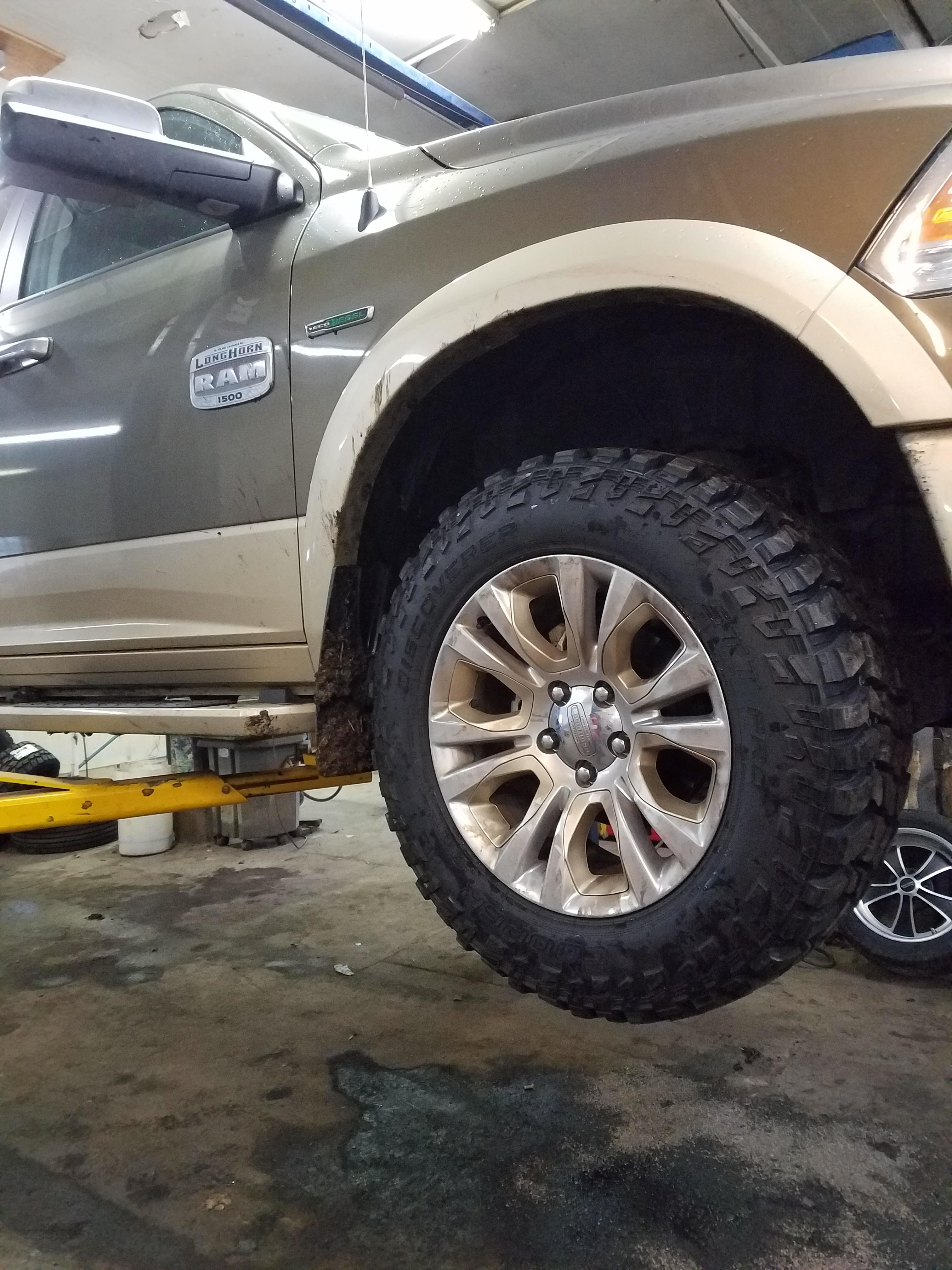 "35 inch tires on Stock 20"" wheels-Lift Kit required, or is ..."