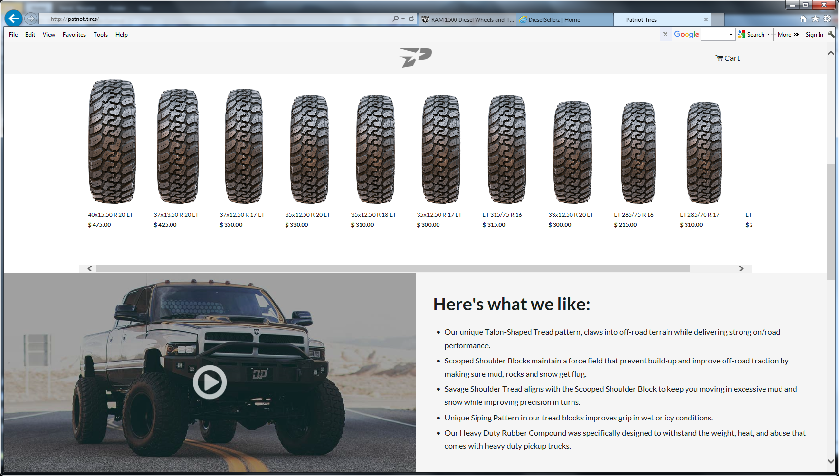 Patriot Tires Reviews >> Patriot Tires Diesel Brother S