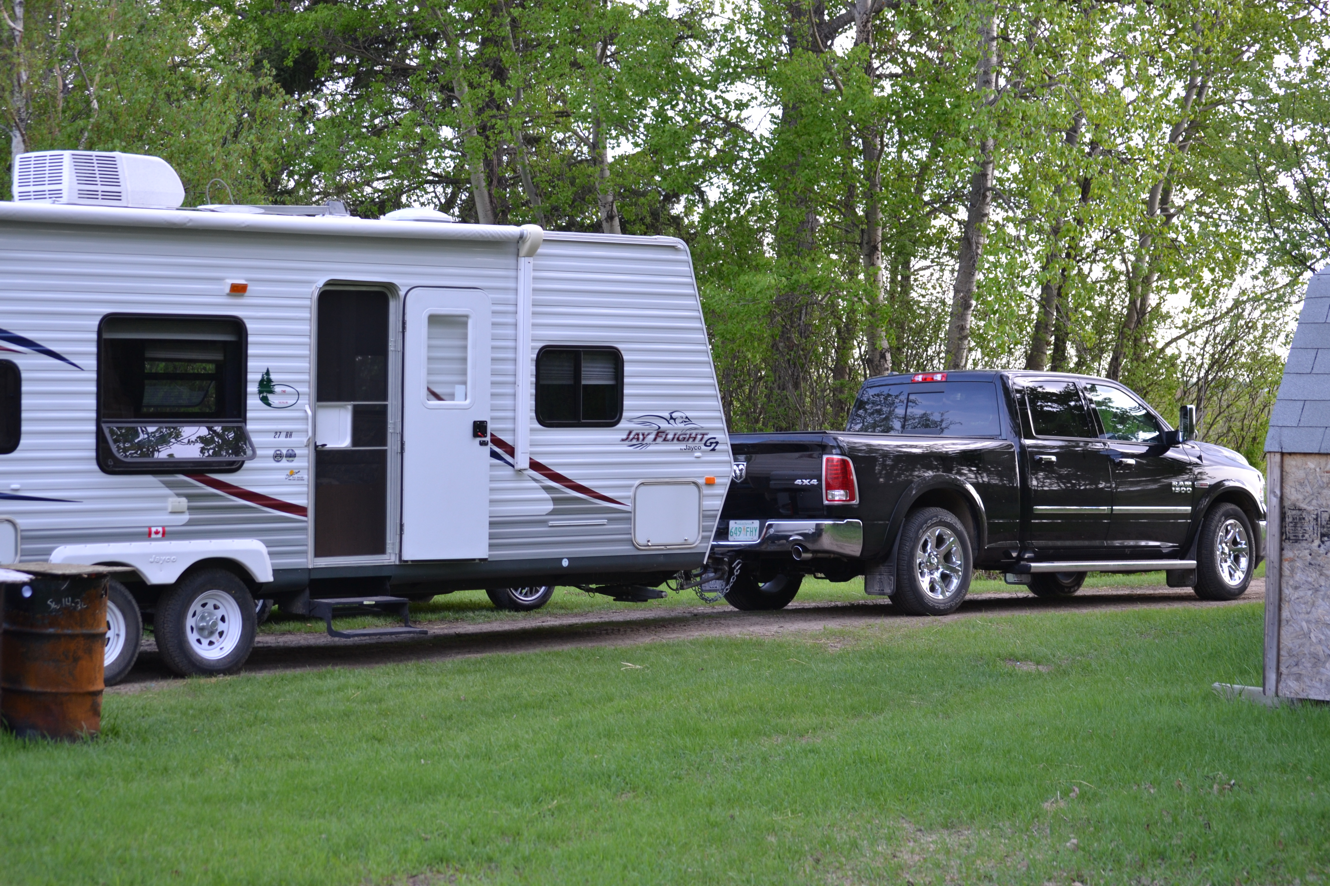 2100 km 1300 mi trip towing 7 000lb travel trailer to the rockies. Black Bedroom Furniture Sets. Home Design Ideas