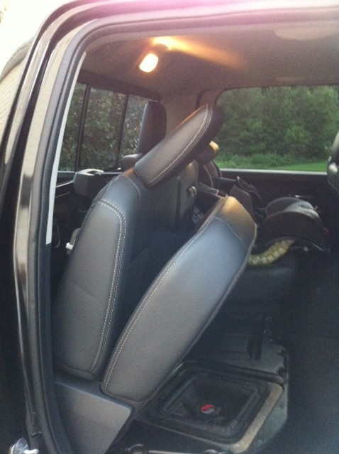 How to fold down your Rear Crew Cab Seats?