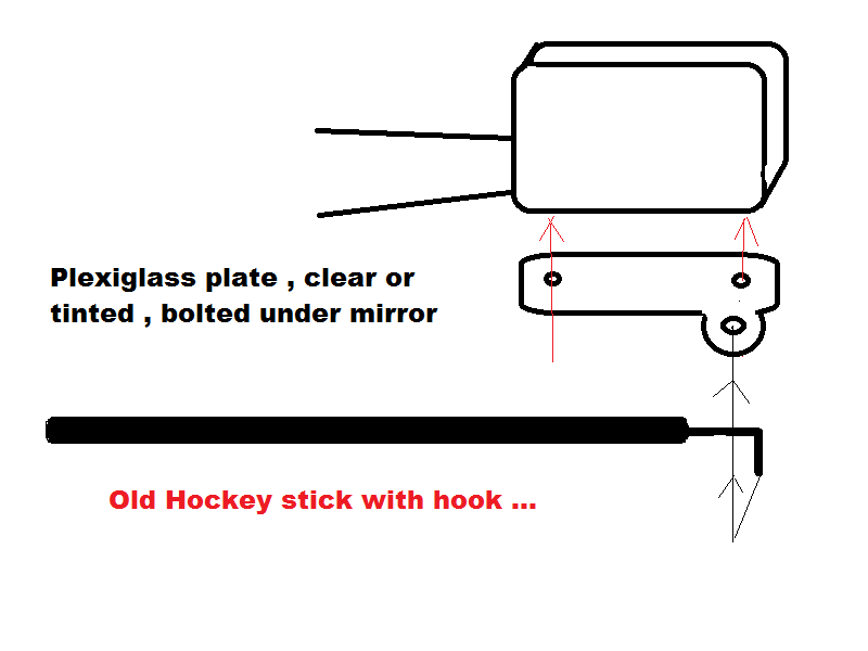 switch out trailer tow mirrors with power fold mirrors  is