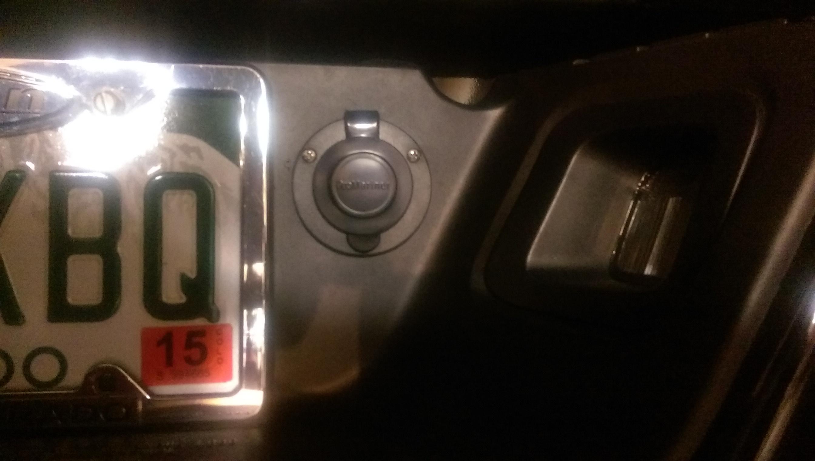 Block Heater Plug Installed In The Rear Bumper
