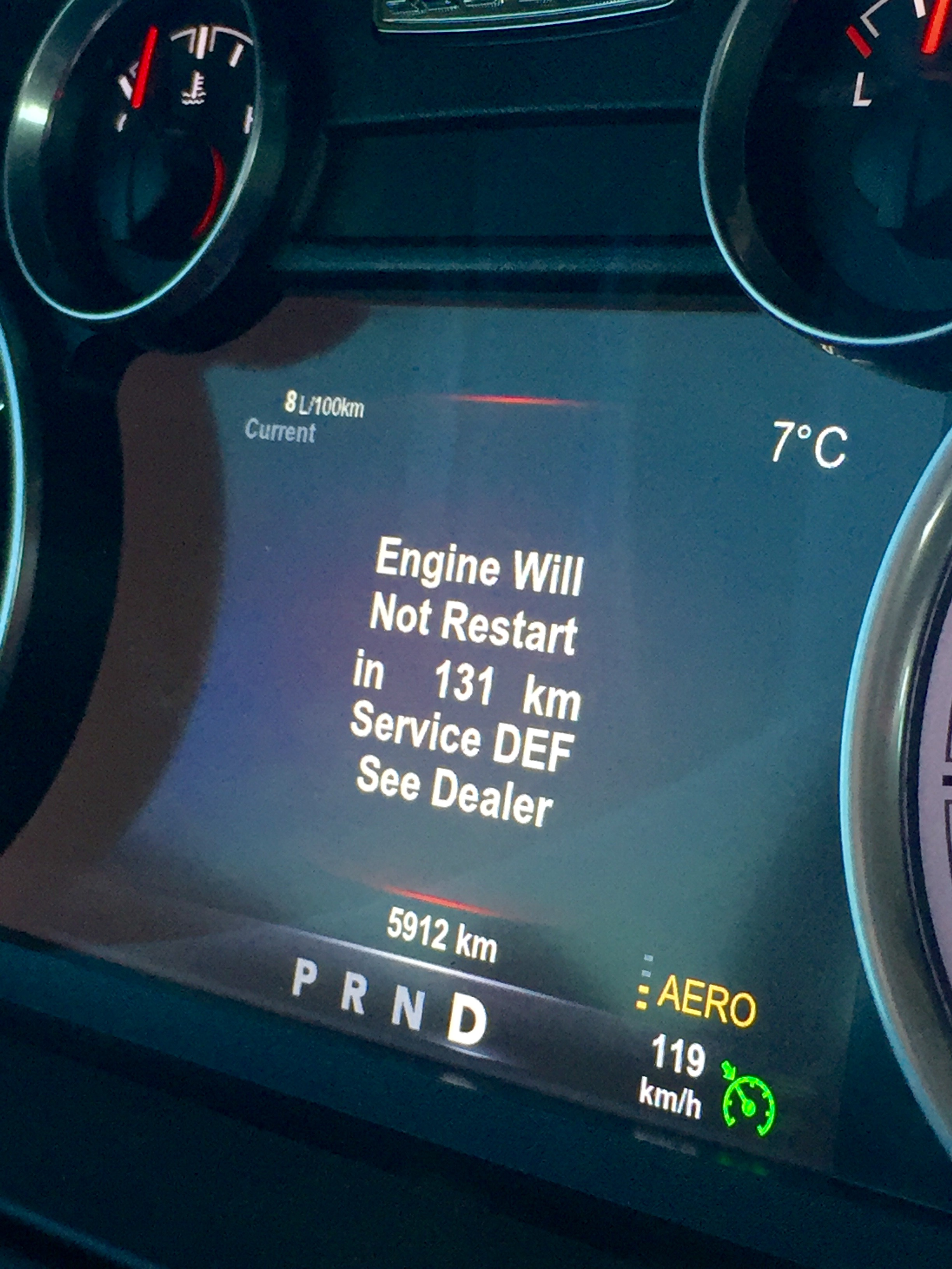 Service DEF System - ENGINE WILL NOT RESTART!