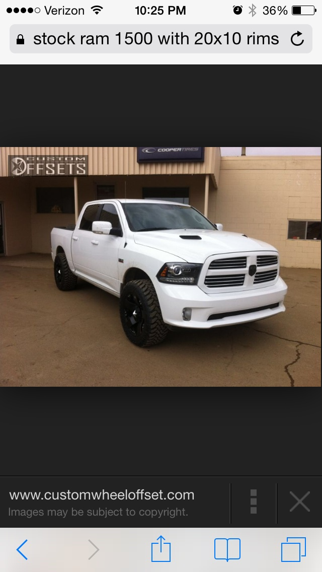 What The Largest Tires For A Stock 2014 Ram 1500 With Air