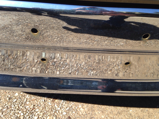 Rust on front bumpers