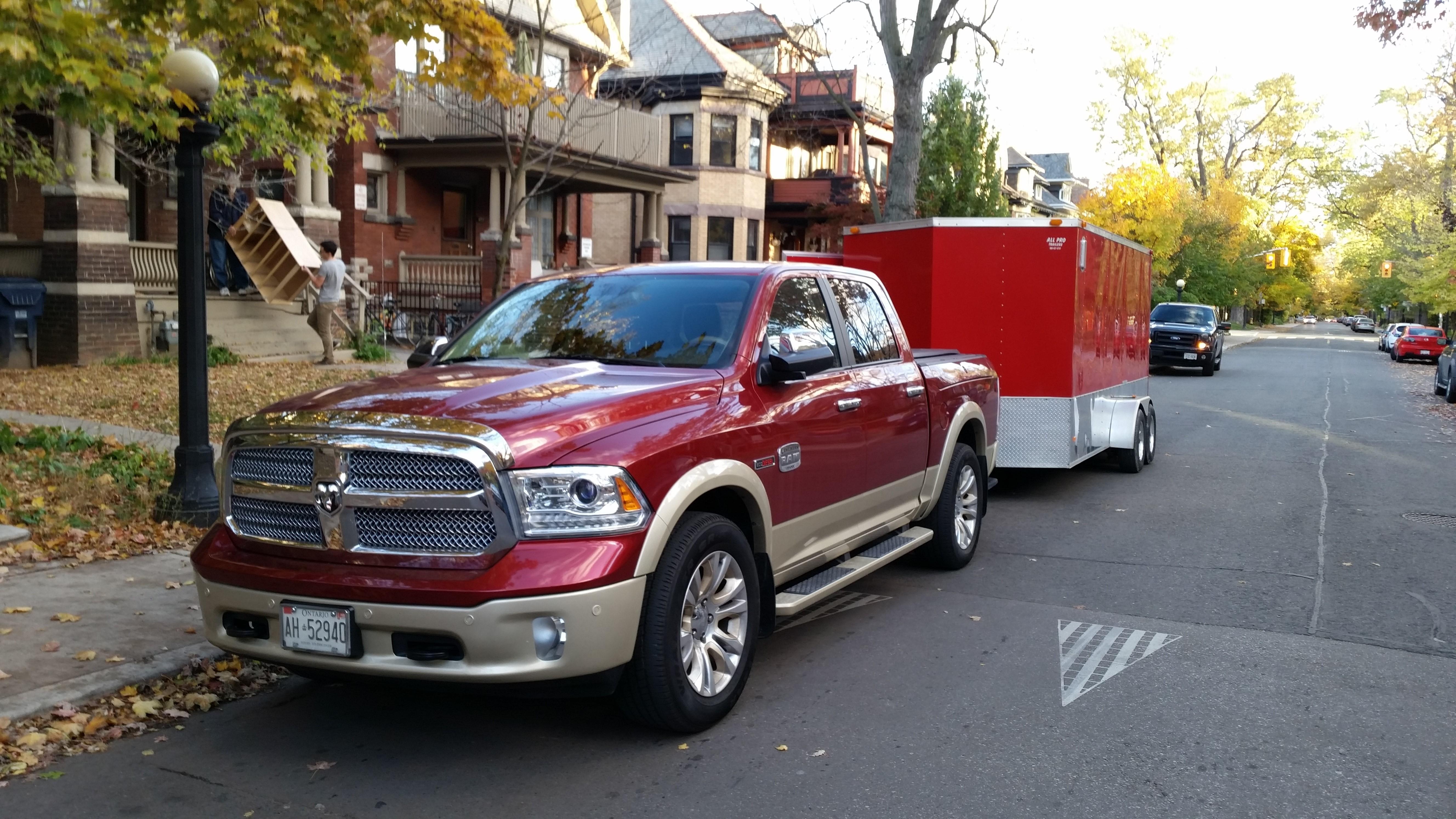 Ecoboost vs eco diesel towing ram trailer 1 jpg
