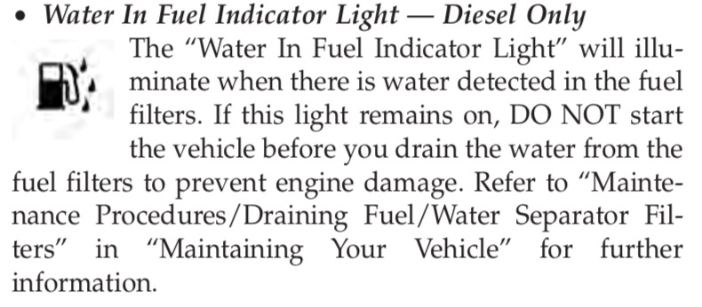 water in fuel